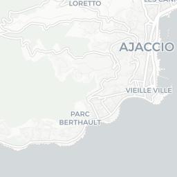 Map of Ajaccio Tourist guide of Ajaccio