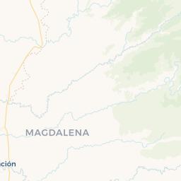 Pueblos De Sevilla Mapa.Mapa De Zona Bananera Prado Sevilla Con Ciudades Pueblos